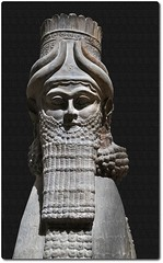 Winged Human-Headed Bull (oar_square) Tags: paris ancientcivilization lamassu louvremuseum ancientempire neoassyrian ancientneareast shedu compositefigure wingedhumanheadedbull assyrianarchitecturalsculpture 713bc protectivegenie