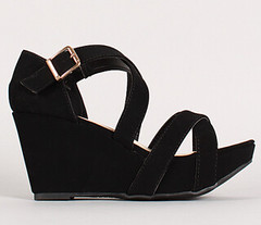 "cross cross strappy open toe wedge blk • <a style=""font-size:0.8em;"" href=""http://www.flickr.com/photos/64360322@N06/15725787111/"" target=""_blank"">View on Flickr</a>"
