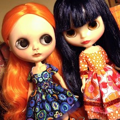 Orange and blue- one of my favorite color combos. These two gals are going to be great friends.
