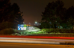 Vancouver International Airport (Clayton Perry Photoworks) Tags: longexposure autumn fall sign night vancouver lights airport stream richmond yvr vancouverinternationalairport explorebc explorecanada