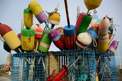 Colorful Buoys (wildukuleleman) Tags: provincetown cape cod 2014