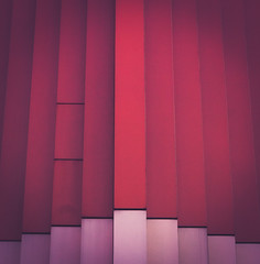 iron curtain (itawtitaw) Tags: above pink light red abstract color building lines architecture facade contrast corner munich square glow shadows shades symmetry line lookup edge gradient mira destroyed patches minimalist fassade purpletint canoneos5dii léonwohlhagewernik canon2470mm28ii