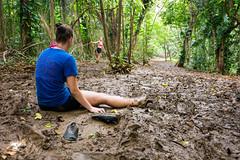 In The Mud. (PeeterTomson) Tags: life hawaii waterfall jumping pond mud oahu hiking good falls explore jungle fujifilm maunawili xa1