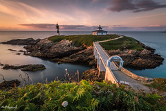 Isla Pancha (Tomasz Raciniewski) Tags: longexposure sunset sea lighthouse landscape faro atardecer mar spain nikon sigma galicia filter 1020 haida ribadeo nd400 d3200 islapancha