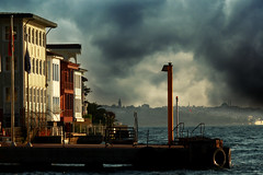 Kuzguncuk wharf (s_gulfidan) Tags: houses sea sky 300faves saariysqualitypictures