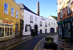 Mothers Ruin .................since 1793! (wontolla1 (Septuagenarian)) Tags: gin palace distillery plymouth cornwall twinned chimney mothers ruin black friar tonic devon alcahol barbican docks harbour refectory pilgrim fathers panasoniclumix14mmf25asphpancake lumix gx1 m43