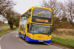 The Norwich Connection (Chris Baines) Tags: anglia buses scania omnideckka east lancs yn55 pzf hen reedbeds nr 88a service