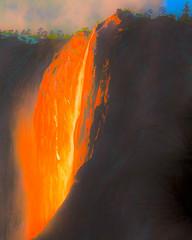 Firefall Fantasy (San Francisco Gal) Tags: yosemite hss horsetail falls hdr waterfall elcapitan sunset nationalpark fantasy