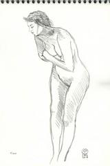 2017 02 27 Nu Lagny 16 (karl_nemo1954) Tags: nu croquis modèlevivant crayon graphite sanguine