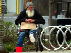 IMG_0261 (kennethkonica) Tags: canonpowershot canon global random hoosiers outdoor talking candid street streetphotography marioncounty midwest america usa indiana indianapolis indy hat sit sitting seat seated wheelchair beard people persons beg panhandler begging