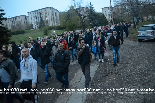 Protesna šetnja u Boru (05.04.2017)