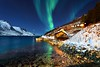 ARCTIC LIGHTS (midlander1231) Tags: norway arctic auroraborealis aurora tromso northernnorway northernlights landscape seascpae coast norwegiancoast fiords fjords sea beach night stars nightphotography nature