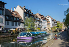 Summer in April... Strasbourg 2017 (4) (Cloudwhisperer67) Tags: amour cloudwhisperer67 medieval bridge ponts couverts cathedral cathédrale strasbourg alsace france view barrage vauban cityscape waterscape city town skyscape urban travel trip photography panorama panoramic amazing splendid april 2017 spring love lovely europe europa great flyboat boat lake canon 760d 760