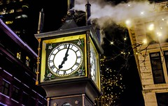 It's about time (Christie : Colour & Light Collection) Tags: clock steamclock steam gastown vancouver bc canada nightphotography photograohy lighting historic historical lights downtown downtownvancouver westminsterchimes time landmark