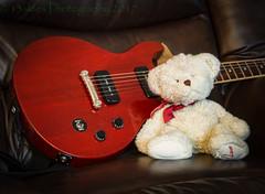 Chillin' with the Gibson (HTBT) (13skies) Tags: whitebear htbt teddybear gibsonguitar cherryred strum chords play music guitar rock tuesday tuning knobs pickups frets strings sonyalpha99 happyteddybeartuesday