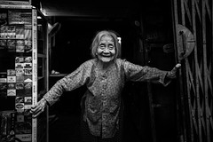 The Lady (superUbO) Tags: vietnam hànội streetphotography portrait lady street shop size cigarettes vietnamise woman people world monocrome blackandwhite uboldiemanuele wwwphotoworksit