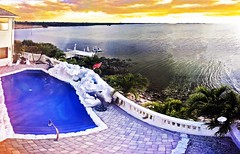 Later Afternoon Golden Sky Blue Waters At Home - IMRAN™ (ImranAnwar) Tags: apollobeach architecture blessed blessings boardwalk boating clouds dock dolphins flag florida home imran imrananwar iphone iphone7plus jetski kayak luxuryhomes palmtrees panorama photoshop realestate reflection shore shoreline skyascanvas swimmingpool tampabay usa waterfall waterfront