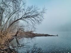 Mystic Morning (dqpagan) Tags: xs1 fuji riverscapes pennsylvania pa buckscounty cool blue serene mystic mist am morning delaware river
