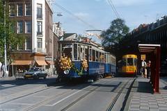 Terug van weggeweest (Tim Boric) Tags: amsterdam tram tramway streetcar strassenbahn lijn24 museumtram ceintuurbaan ruysdaelkade hobbemakade halte jubileum 50jaar