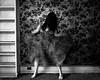 Chord and Dissonance (sadandbeautiful (Sarah)) Tags: me woman female self selfportrait motion bw abandoned house abandonedhouse wallpaper
