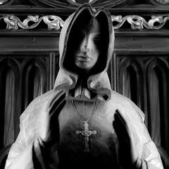 Chapel Dwelling 001 (noahbw) Tags: d5000 nikon notredame oldmontreal blackwhite blackandwhite bw church light monochrome noahbw quiet shadow square statue still stillness