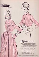 Reeves Fabric for Haymaker 1956 (barbiescanner) Tags: fashion vintagefashion 50s 50sfashion vintageads vintage retro reeves haymaker vintagefashionillustration