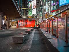 Sit and wait, Toronto (urbanexpl0rer) Tags: hasselblad x1d toronto ontario canada urban dundassquare streetphotography night nightphotography