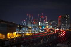 Battersea Power Station (www.javierayala-photography.com) Tags: battersea powerstation trains lightstream coach london londres england inglaterra unitedkingdom uk longexposure construction night
