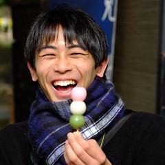 I love dango (Nihon Zaichuu Scotto) Tags: dango photowalking