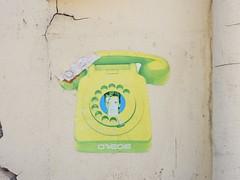 Bowie phone (aestheticsofcrisis) Tags: street art urban intevention streetart urbanart guerillaart graffiti manchester uk unitedkingdom gb greatbritain england europe d7606 bowie davidbowie pasteup wheatpaste
