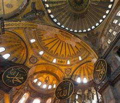 Looking up (randytarampi) Tags: nikond3s mosque nikon d3s museum ceilings architecture church istanbul turkey hagiasofia tr