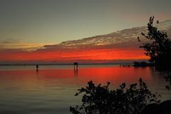 ORANGE WATER (R. D. SMITH) Tags: sunrise dawn orange water river clouds indianriver florida melbourneflorida sky brevaedcountyforida outside canoneos7d naturephotography morning