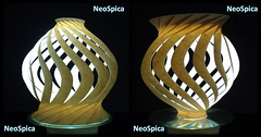 Paper Lamp Onion Shaped Twisted Spiral Conical and variations (11/14) (NeoSpica / NeoLiveArt) Tags: origami kirigami orikiri paper fold cut cutting folding folded decorative onion shaped twisted spiral conical swirl structure sculpture homemade handmade papercraft ideas diy lamp light lampshade double table tablelamp art craft diyhomedecor home decor oniondome crafter creativeideas diylamp papierfalten tessellation tessellated concentric curved lanterns