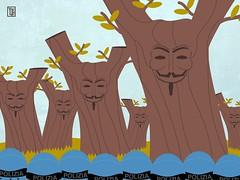 La Vendetta degli Ulivi (Yelena Maria Drinkie) Tags: notap ulivo nogasdotto propaganda illustrazione illustration vector vectorillustration grafica vendetta vforvendetta salento acab ulivi