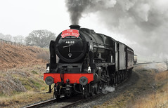 LMS No.46100 ' Royal Scot' southbound at Moorgates [NYMR] on 28th March 2017 (soberhill) Tags: northyorkshiremoorsrailway nymr lms 46100 royalscot grosmont pickering railway steam train locomotive moorgates 2017