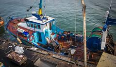 retour de pêche (clos du pontic) Tags: chalutiers pêcheurs pêche guilvinec finistère port jetée eau