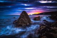 Rainbow Clouds (Augmented Reality Images (Getty Contributor)) Tags: canon cliffs clouds colours dawn landscape leefilters longexposure morayfirth rocks sunrise water waves scotland findochty