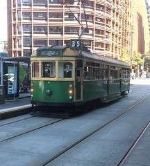 Melbourne W class tram : 959 . Melbourne Aquarium 4/4/17 (busmothy) Tags: prestontramworkshops restored wclass historic yarratrams victoria mmtb tram 959 melbournewclass