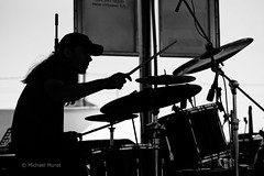 Drummer 1 (michael.mu) Tags: frenchquarterfest2017 leica m240 90mm leicasummaritm90mm neworleans louisiana musician blackandwhite bw monochrome silverefexpro frenchquarter drummer remedy silhouette