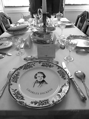 Dickens' dining room (Pat's_photos) Tags: london museum dickens 7daysofshooting week40 beginswiththeletterd blackandwhitewednesday