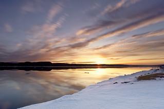 Lever de soleil sur le bord du Saguenay  du 02-04-2017