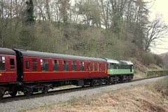 Empty stock (feroequineologist) Tags: d7628 nymr railway northyorkshiremoorsrailway train goathland grosmont