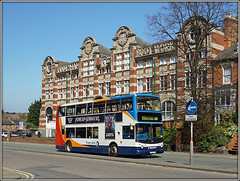 18155, Kingsthorpe Road (Jason 87030) Tags: alx400 dennis trident 18155 px04dpu stagecoach footshape northampton toen kingsthroperoad boot works factrory scene view april 2017 sunny sony alpha a6000 ilce nex lens flickr doubledecker ectonbrook 16 route service
