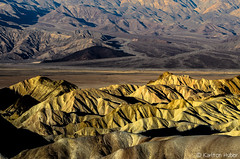 Morning Light -  Zabriskie Point (www.karltonhuberphotography.com) Tags: 2014 abstract beautiful california claystone color deathvalley deathvalleynationalpark details formations geologichistory geologicwonder geology horizontal inspiring intriguing karltonhuber landscape landscapephotography lines nationalpark naturalworld nature nikkor70200vrii nikond7000 patterns rocks rolling siltstone texture wavy wonder zabriskiepoint