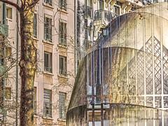 a Paris vision (albyn.davis) Tags: paris france europe manipulation louvre pyramid pompidou buildings windows travel
