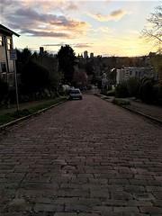 Madrona Sunset, Cobblestone Block of E. Marion Street (JoeInSouthernCA) Tags: street infrastructure paving pavement civilengineering seattle