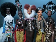 Byron Lars: The Treasures of Africa collection (FashionDragon) Tags: treasuresofafrica mbili tano nne tatu moja africanamerican blackbarbie fashionroyalty fashiondoll designerdoll byronlars jasonwu stephenburrows bobmackie integritytoys