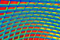 Grid (Thad Zajdowicz) Tags: zajdowicz dc grid roof abstract picasa heatmap color lines curves red blue green yellow colour indoor insoide availablelight canon 30d pattern texture washington