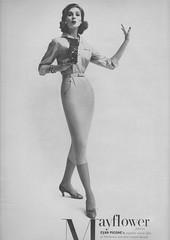 Evan-Picone 1956 (barbiescanner) Tags: vintage retro fashion vintagefashion 50s 50fashion vintagevogue vogue vintageads evanpicone suzyparker