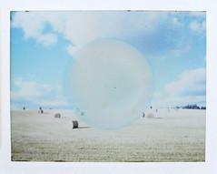 Circle (megalithicmatt) Tags: craigellachie polaroid polaroid180 fp100csilk bales circle roidweek2017